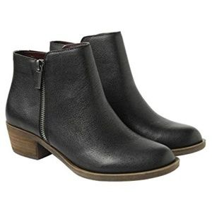 Kensie Women's Leather Ghita Short Ankle Boots BLK